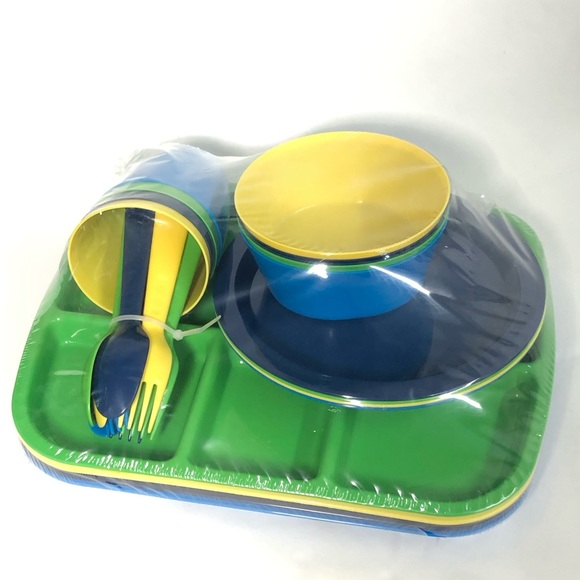 Mainstay Other - Mainstay 24 piece plastic kids serving ware